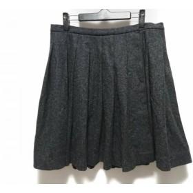 【中古】 ミュウミュウ miumiu スカート サイズ42 M レディース 美品 ダークグレー