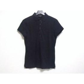 【中古】 バーバリーロンドン Burberry LONDON 半袖ポロシャツ サイズ1 S レディース ダークネイビー