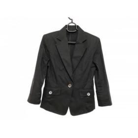 【中古】 ヴァンドゥ オクトーブル 22OCTOBRE ジャケット サイズ36 S レディース 黒 綿 麻 ポリウレタン