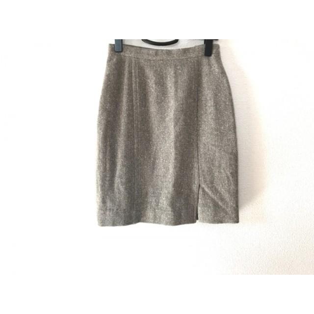【中古】 レナランゲ RENA LANGE スカート サイズ06(USA) レディース ブラウン アイボリー