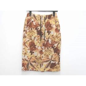【中古】 グーコミューン スカート サイズ36 S レディース ベージュ ブラウン ダークブラウン