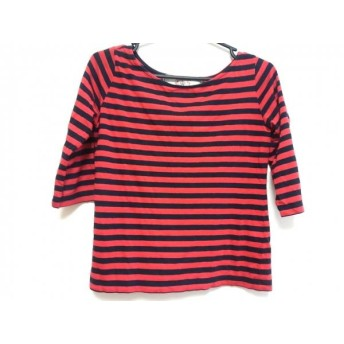 【中古】 アパルトモン L'Appartement 七分袖Tシャツ レディース レッド ダークネイビー ボーダー