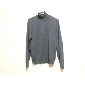 【中古】 ヒューゴボス HUGOBOSS 長袖セーター サイズS メンズ 美品 グレー タートルネック