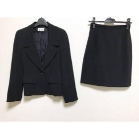 【中古】 メルローズ MELROSE スカートスーツ サイズ2 M レディース 黒