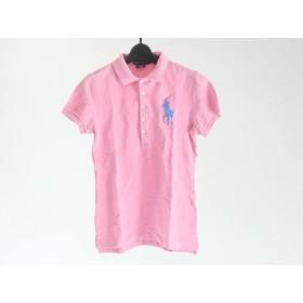 【中古】 ラルフローレン RalphLauren 半袖ポロシャツ サイズS レディース ビッグポニー ピンク ブルー