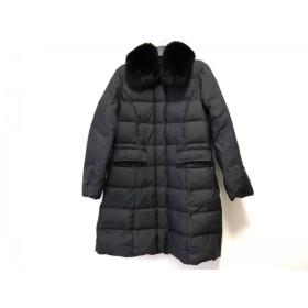 【中古】 エムズグレイシー M'S GRACY ダウンコート サイズ38 M レディース 黒 冬物/ファー