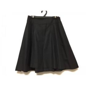 【中古】 ダブルスタンダードクロージング ミニスカート サイズ36 S レディース 黒 プリーツ