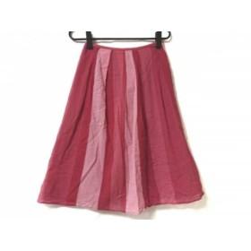 【中古】 ホコモモラ JOCOMOMOLA スカート サイズ40 XL レディース レッド ピンク ストライプ