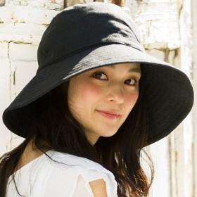 小顔効果抜群 UV ハット 58.5-63cm 商品名チャーム付きUVハット UVカット 帽子 レディース 大きいサイズ 日よけ 折りたたみ つば広 ハット UVカット