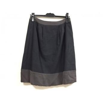【中古】 アンテプリマ ANTEPRIMA スカート サイズ38 S レディース 美品 黒 ダークグレー
