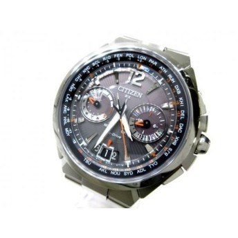 【中古】 シチズン CITIZEN 腕時計 サテライトウェーブ CC1091-50E メンズ ダークグレー