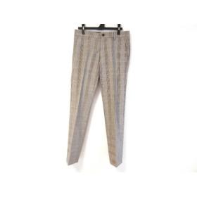 【中古】 ポールスミス PaulSmith パンツ サイズM メンズ グレー 黒 マルチ チェック柄