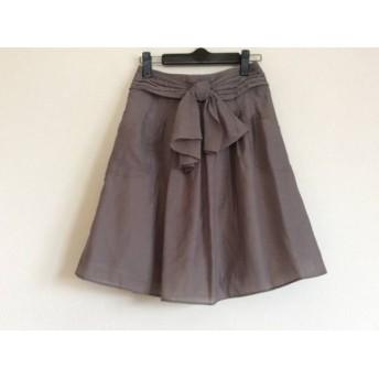 【中古】 ジャスグリッティー JUSGLITTY スカート サイズ0 XS レディース カーキ リボン