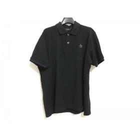 【中古】 マンシングウェア Munsingwear 半袖ポロシャツ サイズLL メンズ 黒