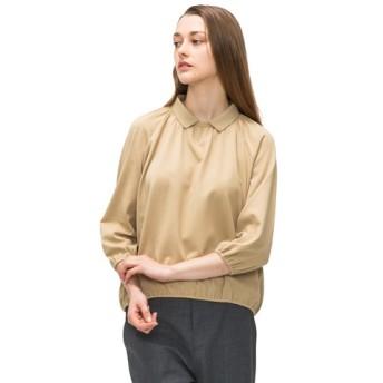 ボリューム変形ポロシャツ(7分袖)
