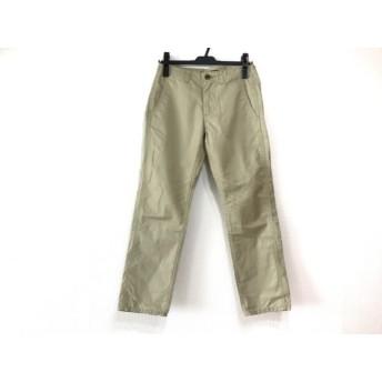【中古】 ミズイロインド mizuiro ind パンツ サイズ1 S レディース ベージュ