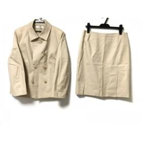 【中古】 ニジュウサンク 23区 スカートスーツ レディース ライトベージュ
