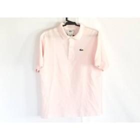 【中古】 ラコステ Lacoste 半袖ポロシャツ サイズ12 L レディース ピンク