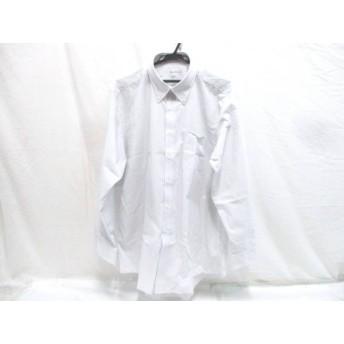 【中古】 ノーブランド 長袖シャツ サイズ3L メンズ ホワイト ブラック グレー