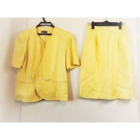 【中古】 ラピーヌブランシュ lapine blanche スカートスーツ サイズ11 M レディース イエロー