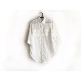【中古】 セシルマクビー CECILMcBEE 七分袖シャツブラウス サイズM レディース 白