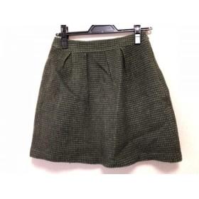 【中古】 ホコモモラ JOCOMOMOLA スカート サイズ40 XL レディース ダークグリーン