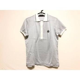 【中古】 エポカ EPOCA 半袖ポロシャツ サイズ48 XL メンズ ライトグレー 白