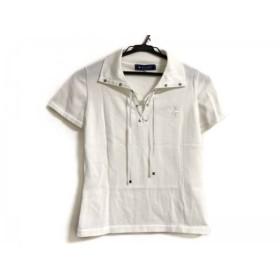 【中古】 エムズグレイシー M'S GRACY 半袖ポロシャツ サイズ38 M レディース 美品 白