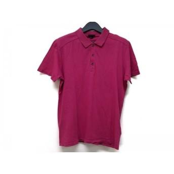 【中古】 セオリー theory 半袖ポロシャツ サイズL レディース ピンク