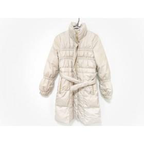 【中古】 ニコル NICOLE ダウンコート サイズ38 M レディース アイボリー 冬物/ white