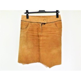 【中古】 アプワイザーリッシェ Apuweiser-riche スカート サイズ2 M レディース ベージュ レザー