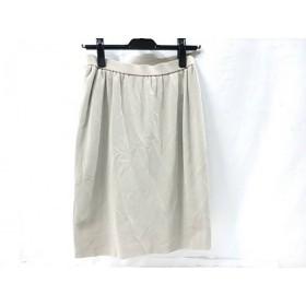 【中古】 バレンザポー VALENZA PO スカート サイズ40 M レディース ベージュ マルチ