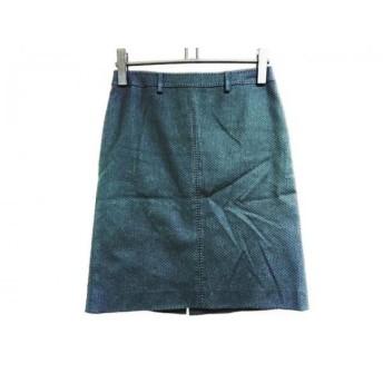 【中古】 ハロッズ HARRODS スカート サイズ2 M レディース 黒 ステッチ