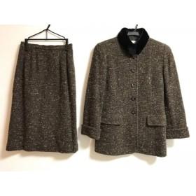 【中古】 ミラショーン mila schon スカートスーツ サイズ38 S レディース ツイード/ミンク