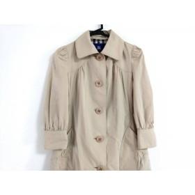 【中古】 バーバリーブルーレーベル コート サイズ38 M レディース ベージュ 春・秋物/七分袖
