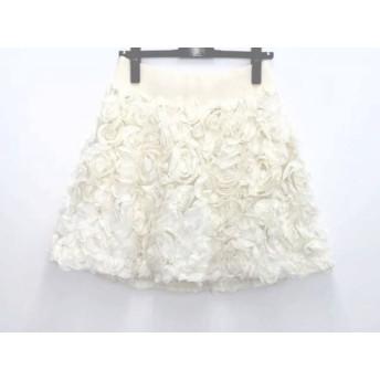 【中古】 リリーブラウン Lily Brown ミニスカート サイズ1 S レディース アイボリー