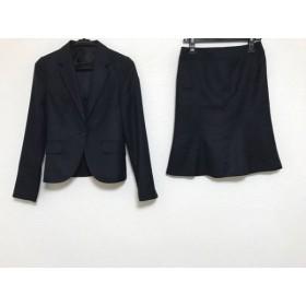 【中古】 アンタイトル UNTITLED スカートスーツ サイズ1 S レディース 黒 ストライプ