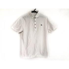 【中古】 バーバリーブラックレーベル Burberry Black Label 半袖ポロシャツ サイズ2 M メンズ 白