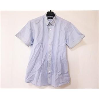 【中古】 エポカ EPOCA 半袖シャツ サイズ46 XL メンズ ライトブルー