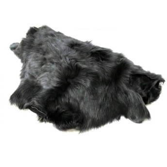 【中古】 カールドノヒュー Karl Donoghue ストール(ショール) 美品 黒 羊革