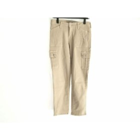 【中古】 グレースコンチネンタル パンツ サイズ36 S レディース ベージュ ラインストーン