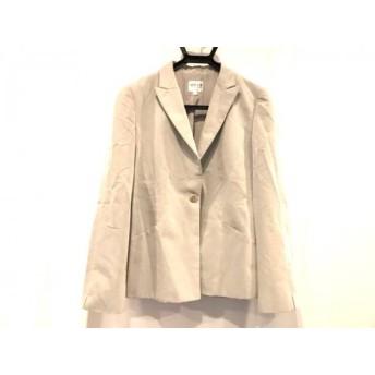 【中古】 アルマーニコレッツォーニ ジャケット サイズ44 L レディース 白 ダークグレー 肩パッド