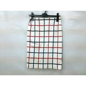 【中古】 クイーンズコート QUEENS COURT スカート サイズ2 M レディース 白 マルチ
