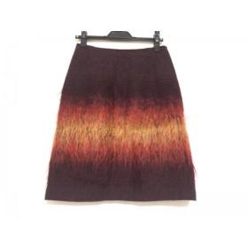 【中古】 アナスイ ANNA SUI スカート サイズ4 S レディース 美品 レッド ボルドー