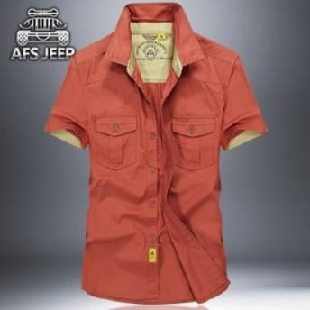 シャツ メンズ カジュアルシャツ メンズ 半袖 無地 トップス アウトドア 通勤 薄て シャツ 大きいサイズ アメカジ 2018