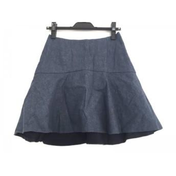 【中古】 メゾン ド リーファー ミニスカート サイズ36 S レディース 美品 ネイビー デニム