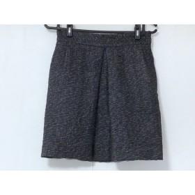 【中古】 ラウラ Laula スカート サイズ2 M レディース 黒 パープル マルチ ラメ