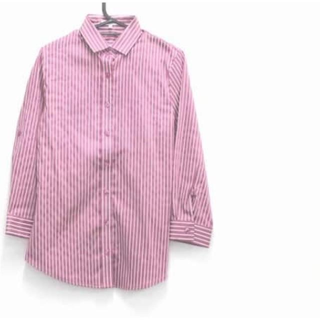【中古】 ナラカミーチェ 七分袖シャツブラウス サイズ1 S レディース 美品 ピンク 白 ストライプ