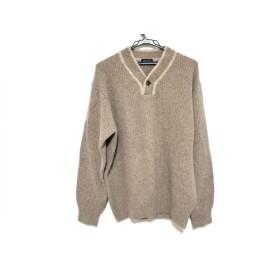 【中古】 ランバンコレクション 長袖セーター サイズL メンズ ブラウン ライトブラウン