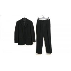 【中古】 コムサイズム シングルスーツ サイズM メンズ ダークグレー ライトグレー ブラウン ストライプ